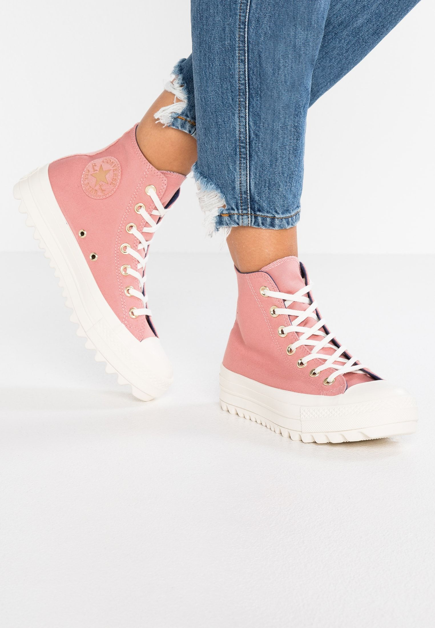 Scadenza Accidentale Feudale  Converse CHUCK TAYLOR ALL STAR LIFT RIPPLE - High-top trainers - rust  pink/mason blue/egret - Zalando.co.…   Fab shoes, Converse chuck taylor all  star, Me too shoes