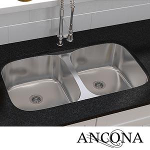 Costco Ancona Double Bowl Under Mount Kitchen Sink Undermount Kitchen Sinks Kitchen Sink Sink