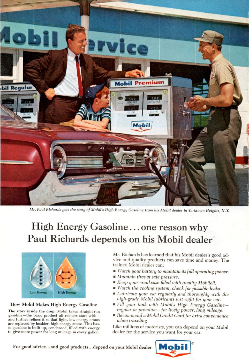 Original 1964 Vintage Advertisement For Mobil Global By Forneil
