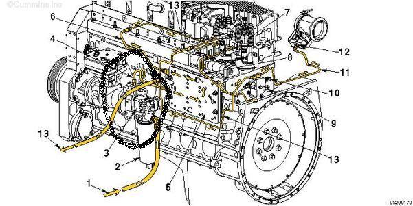 Cummins Isx Fuel Pump Diagram in International 4300 Parts Diagram