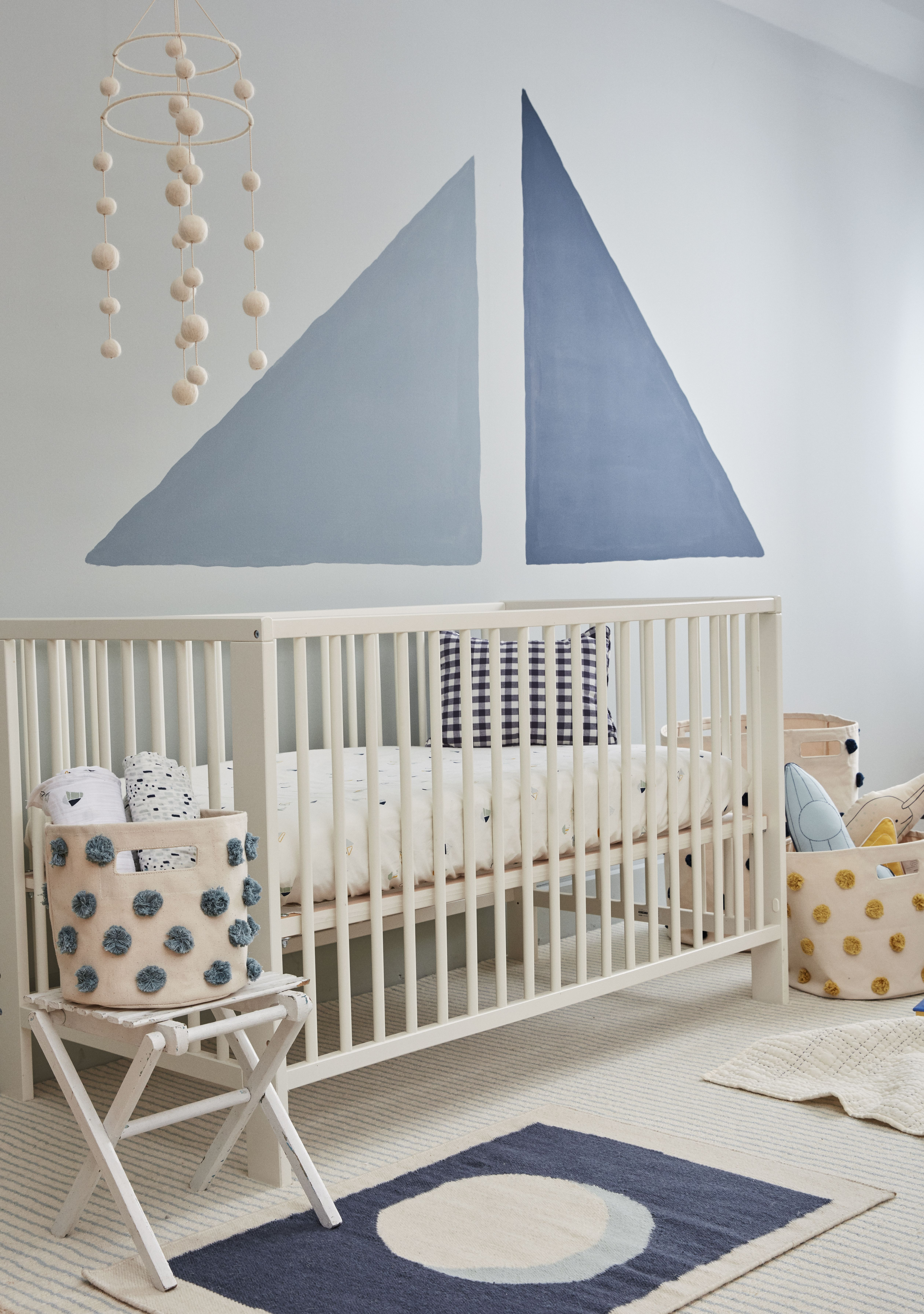 Featuring The Pehr Organic Sailor Crib Sheet And All The Items That Pehr With It With Images Sailor Nursery Flat Weave Rug Nursery