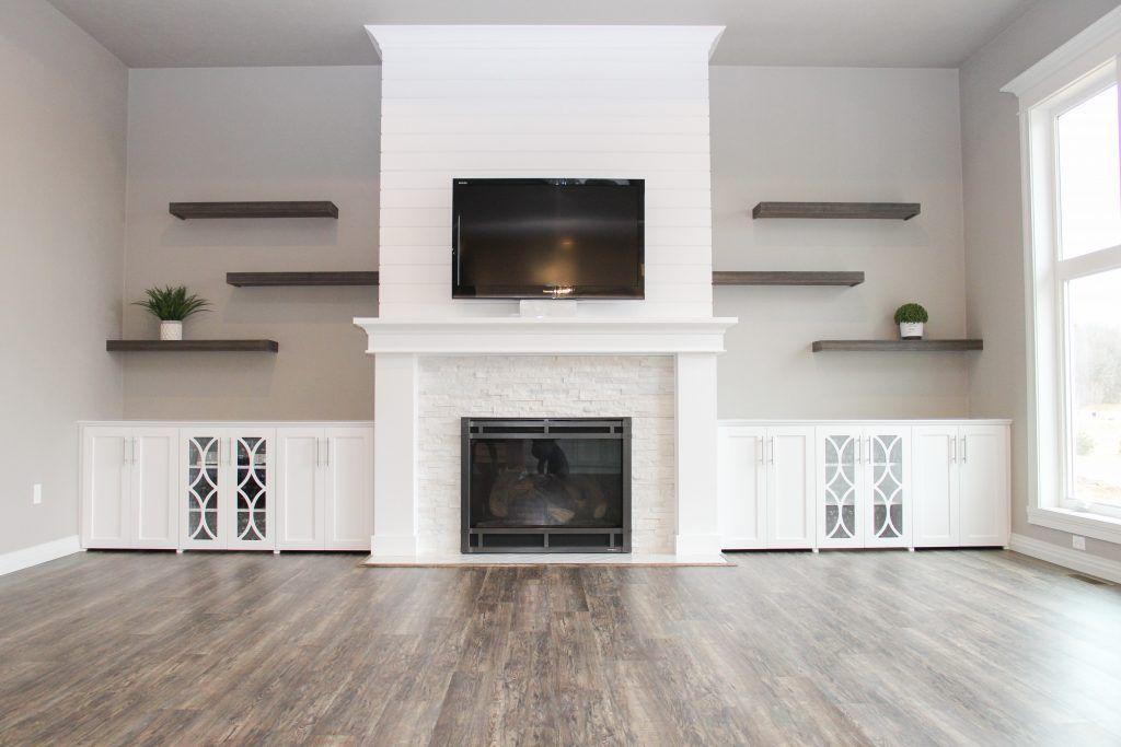 Luxury Vinyl Plank Flooring And White Stone Tile Fireplace Luxury Vinyl Plank Flooring White Stone Tile Fireplace Vinyl Plank Flooring