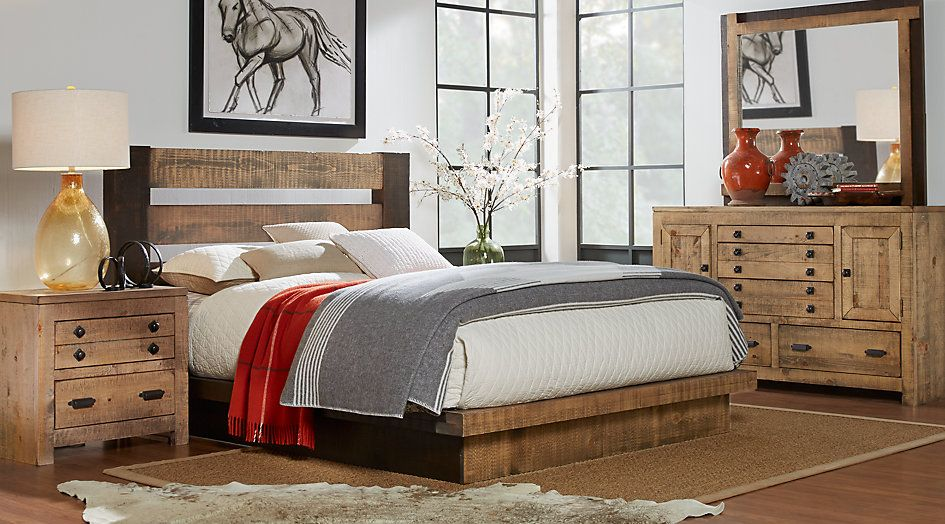 Picture Of Asher Driftwood 5 Pc King Bedroom From Furniture With