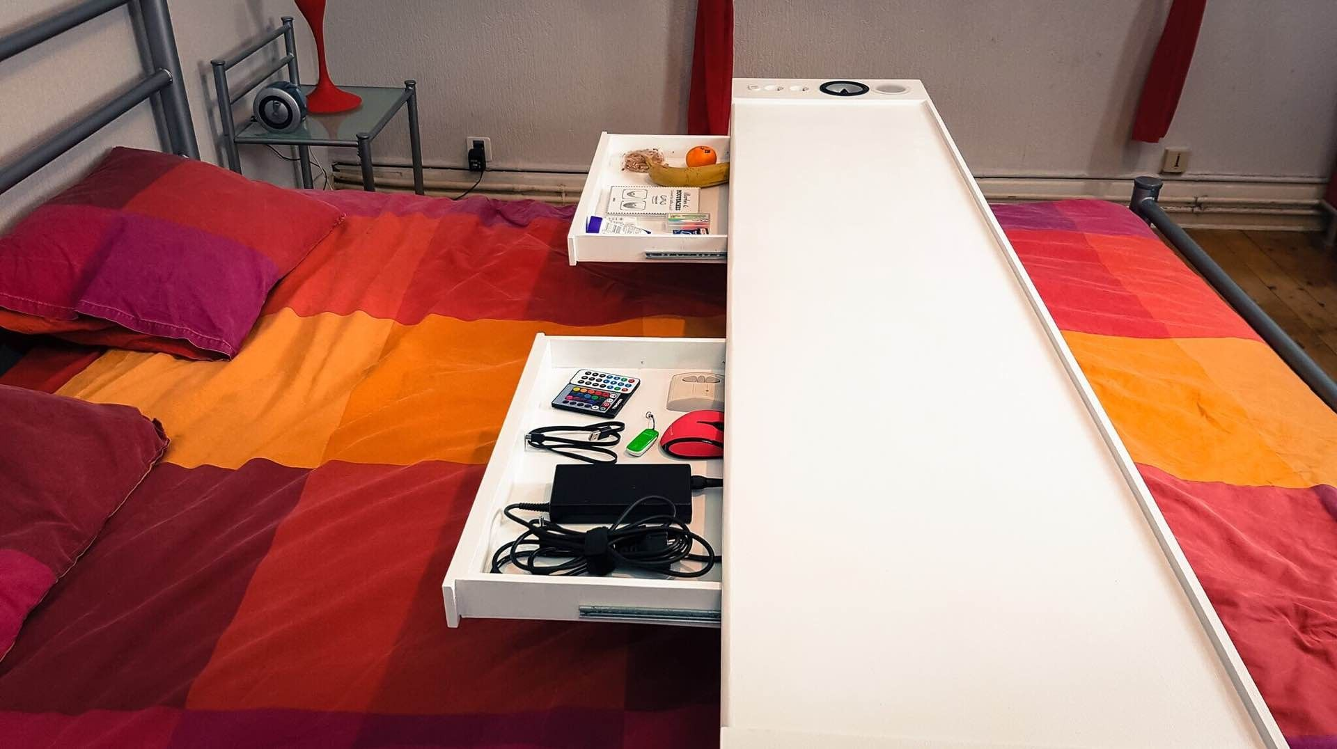 Awesome Bedchill Connected Overbed Rolling Table 2 Art Design In Download Free Architecture Designs Lukepmadebymaigaardcom