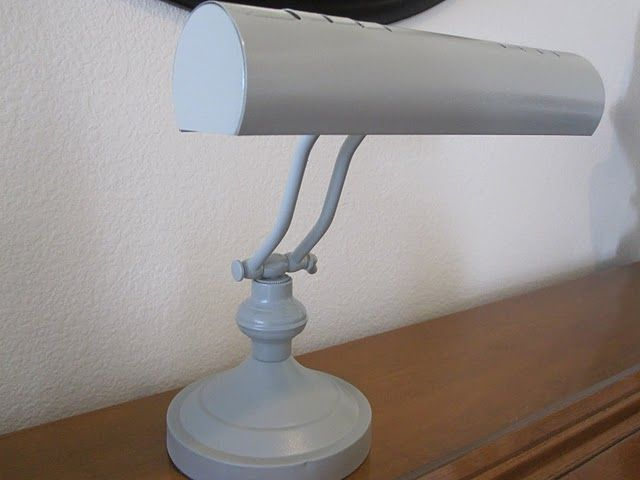 Spary Painted Piano Light Much More Chic Than Dirty Brass