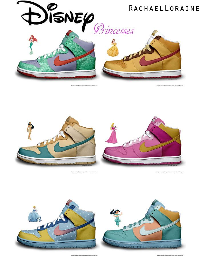 best sneakers 030ad 42e05 Disney   Nike need to do this! Love them all! I want the Belle ones!!