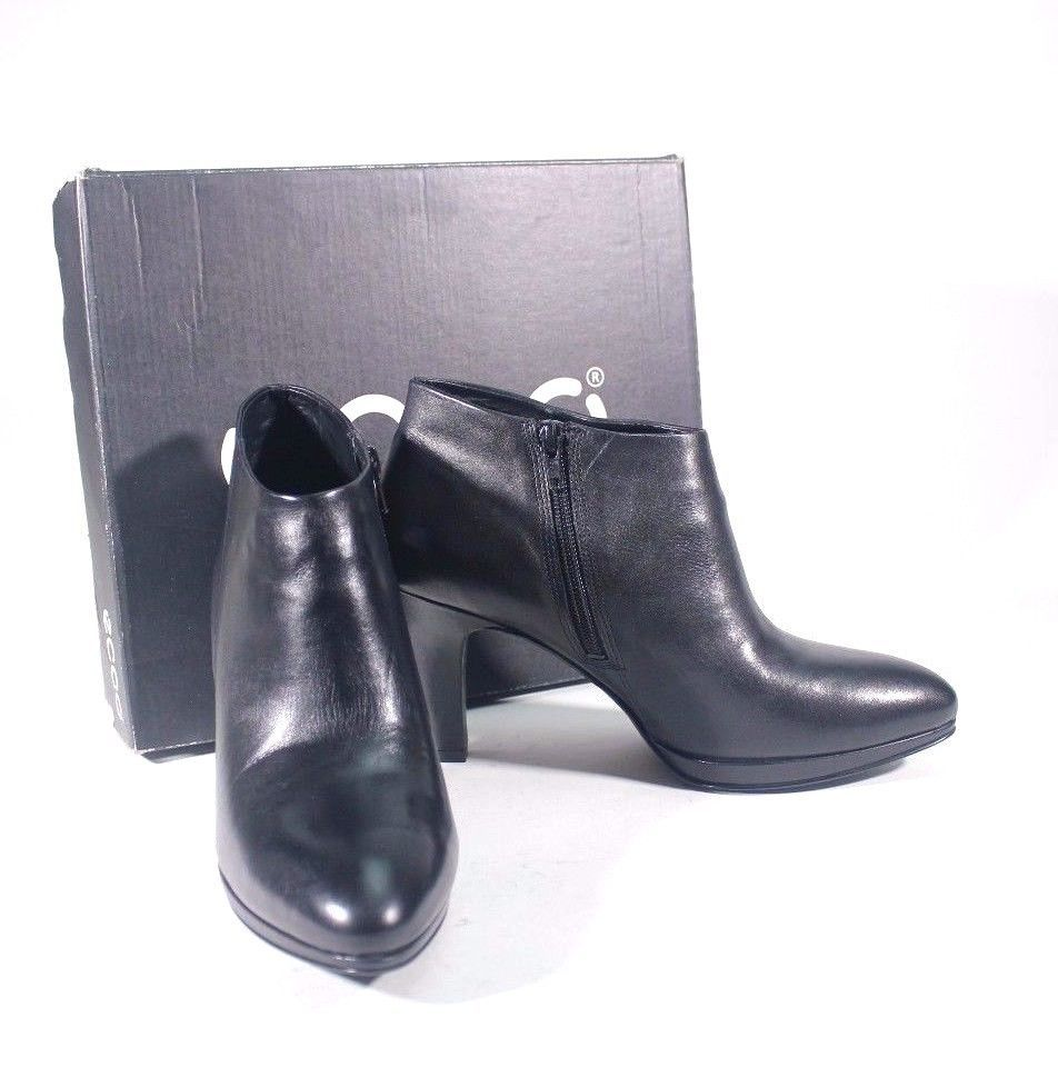 ECCO Womens Black Leather Ankle Boots size 41 $ 150 #ECCO #AnkleBoots  #WeartoWork