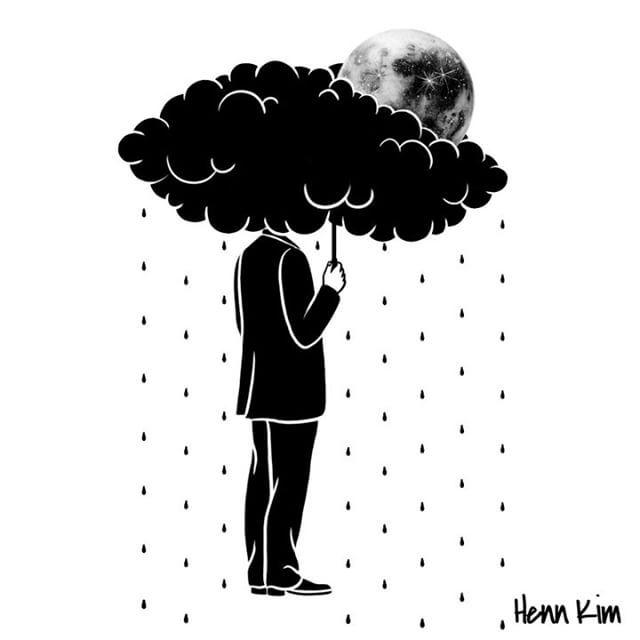 My life is a storm ☔️ 고요하지 못한 마음, 폭풍 같은 나의 매일 . . . #hennkim #animation