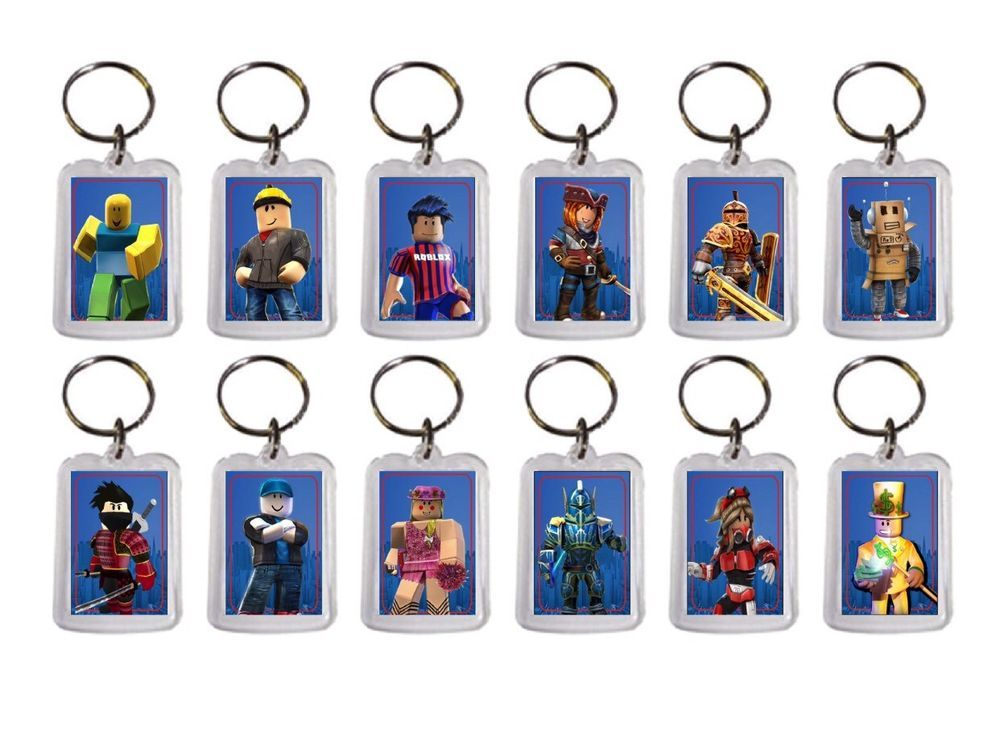 12x Roblox Birthday Party Favor Keychains Ebay Birthday Party