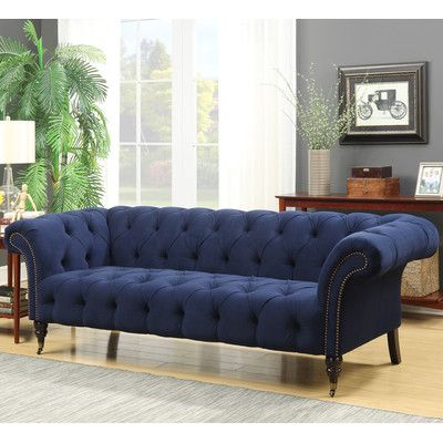Willa Arlo Interiors Elle Tufted Chesterfield Sofa