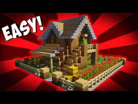 Minecraft How To Build A Small Survival House Tutorial 10 Easy Build Minecraft Dog House Minecraft Houses Survival Minecraft House Designs