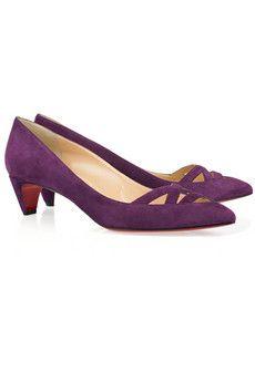 christian louboutin purple velvet kitten heel pumps so pretty rh pinterest com