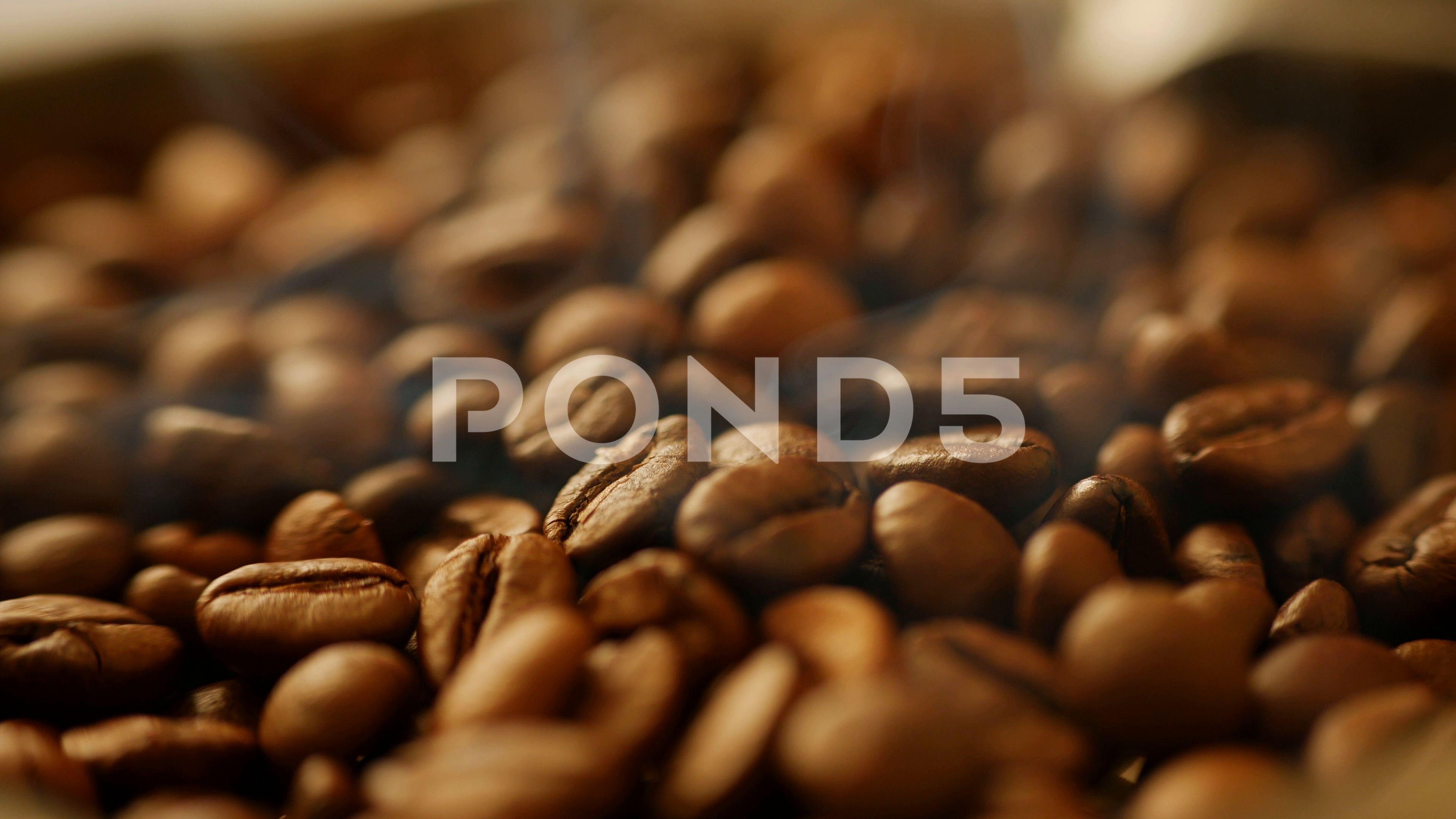 Coffee beans roasting smoke side shot AD ,roastingsmoke