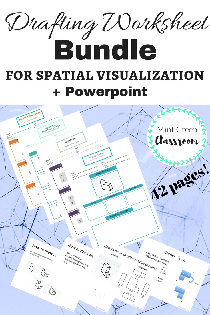 Isometric and Orthographic Spatial Visualization Bundle in ...