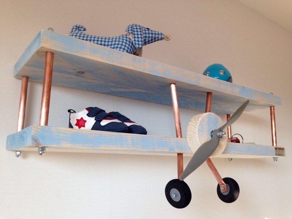 Diy An Airplane Shelf For A Boys Room
