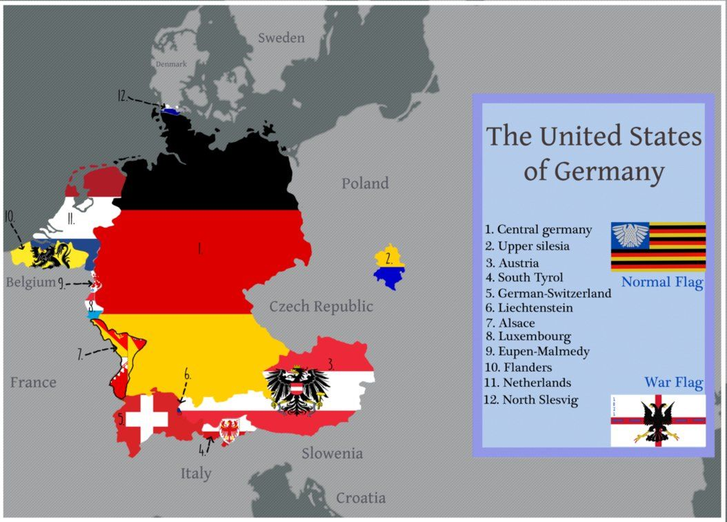 The United States Of Greater Germany By Iasonkeltenkreuzler Germany Map Historical Maps Alternate History