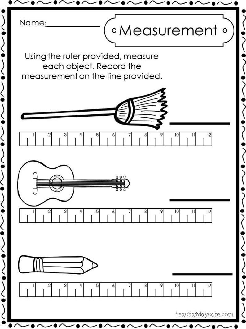 1st Grade Measurement Worksheets Free Printable Math Worksheets Measurement Worksheets First Grade Math Worksheets