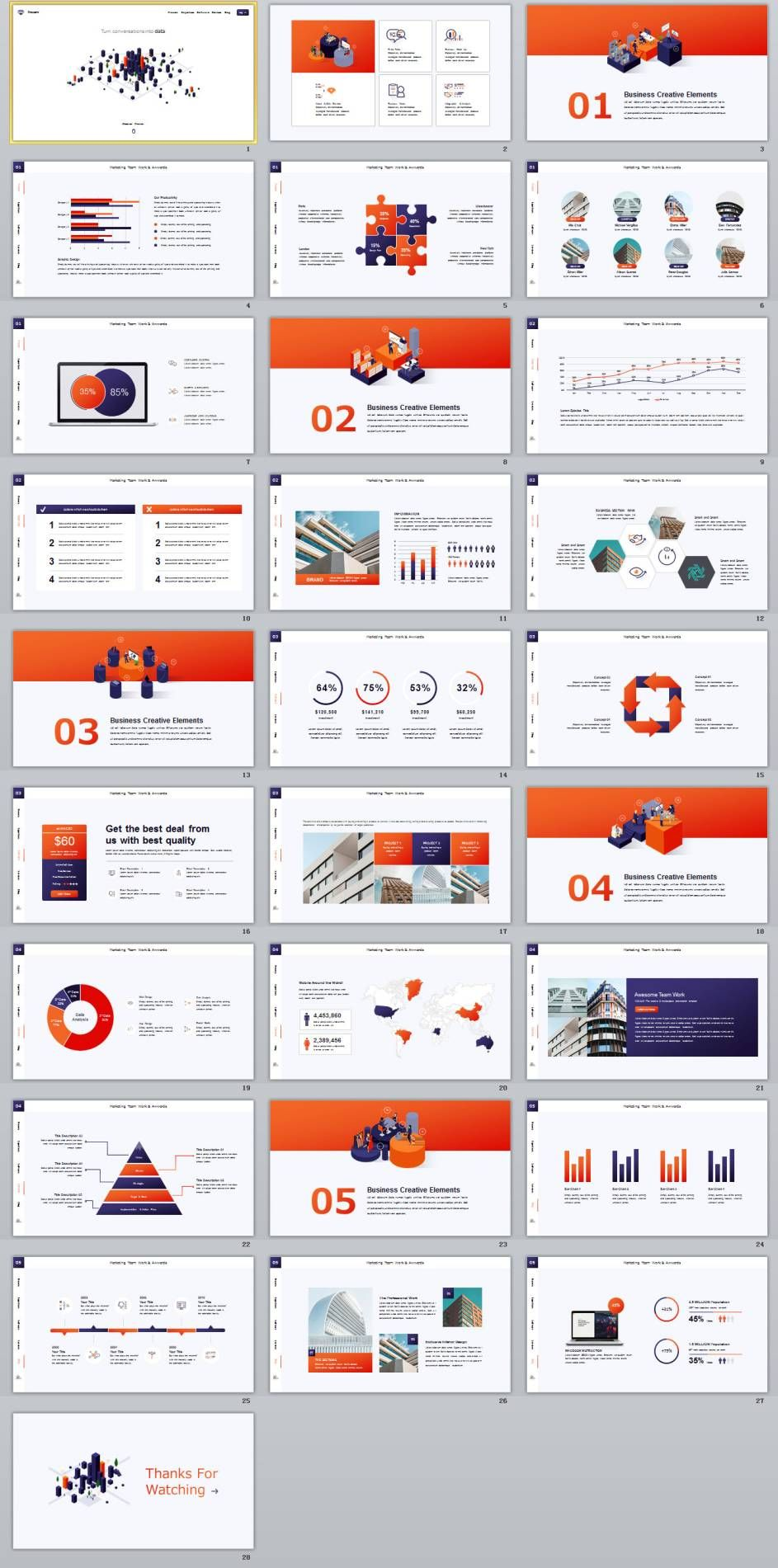 28 business chart powerpoint presentations template business