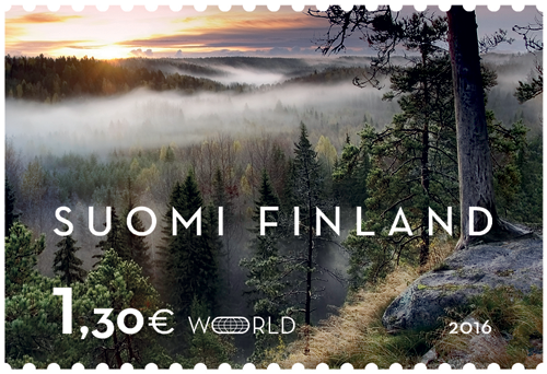 Nuuksion metsämaisema vuoden kaunein postimerkki - Posti Group Oyj