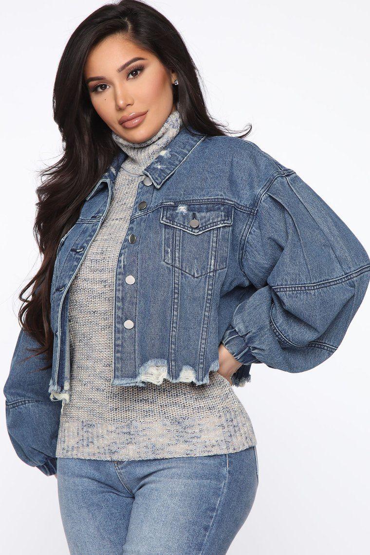 All You Need Crop Denim Jacket Medium Wash Denim Jacket Women Denim Jacket Cropped Denim [ 1140 x 760 Pixel ]