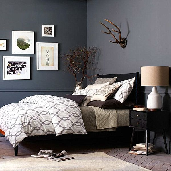 schicke schwarze schlafzimmerm bel eleganter charme home pinterest bett schlafzimmer. Black Bedroom Furniture Sets. Home Design Ideas