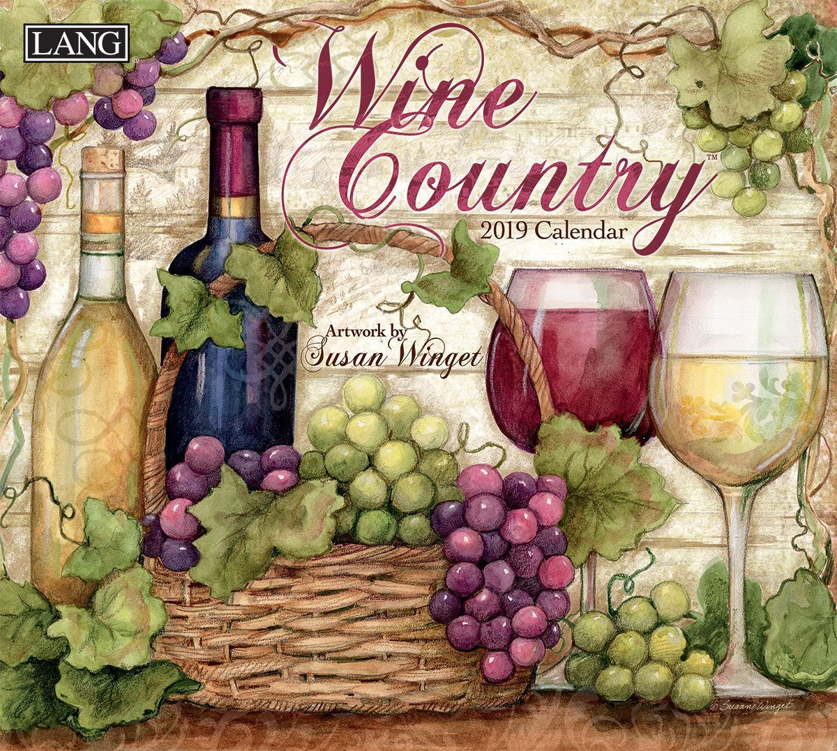 Wine Coutnry 2019 Wall Calendar Full Size Wall Calendars Wall