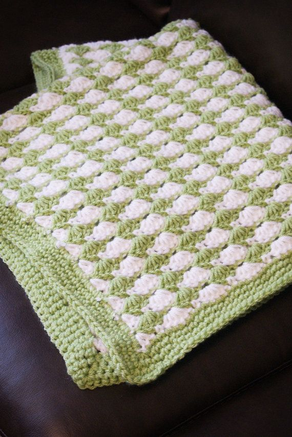 Free Crochet Shell Stitch Blanket Pattern | Punto | Pinterest ...