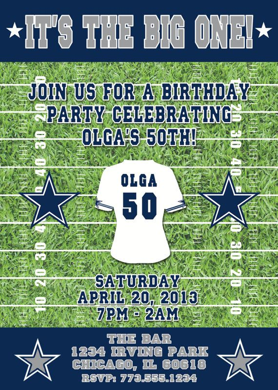 Football Themed Birthday Invitation For Men And By LilygramDesigns 1200