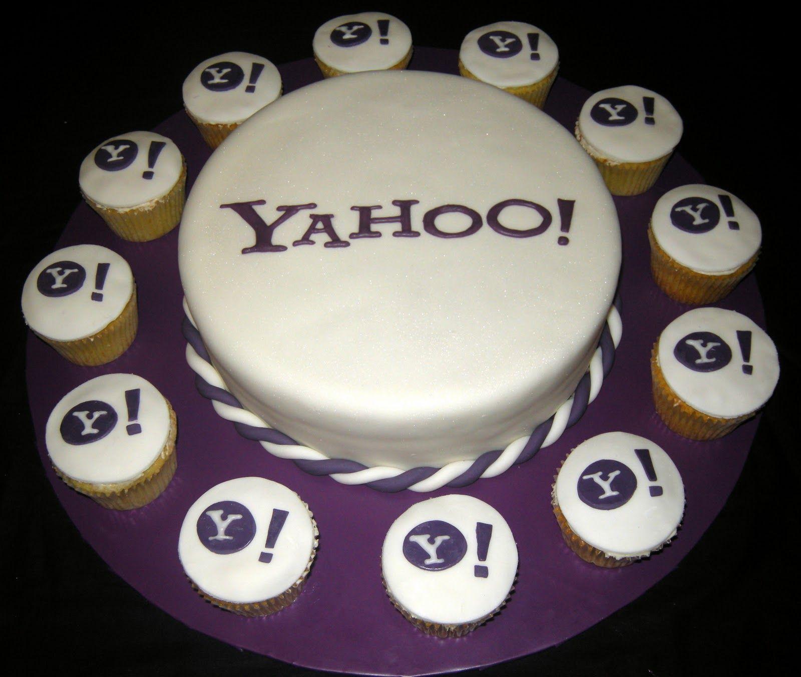 Yahoo Logo Cake Corporate Cakes Pinterest Cake