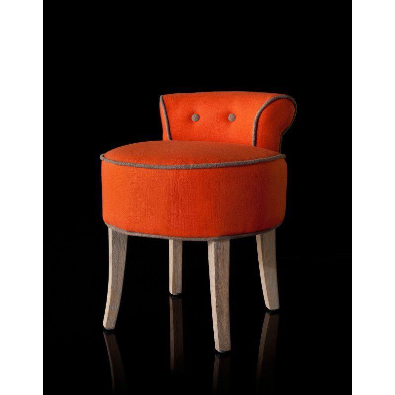 Marvelous Safavieh Georgia Vanity Stool Burnt Orange Mcr4546F Machost Co Dining Chair Design Ideas Machostcouk