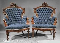 Furniture: Suite Parlor; Victorian, Renaissance Revival, Jelliff (John)?
