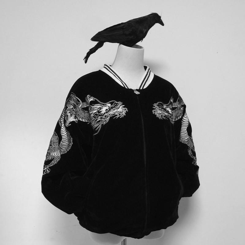 11fb37a9ea2 Japanese Harajuku Dragon Embroidery Jacket in 2019