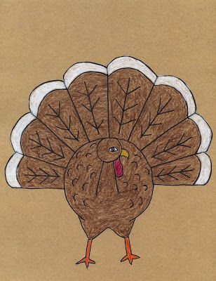 Art Projects for Kids: How To Draw A Turkey Tutorial
