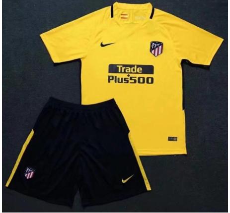 2f21c2d5edf ... GRIEZMANN 7 Adult Atletico Madrid Away Yellow Soccer Uniform 201718