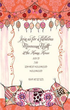 Image Result For Moroccan Party Invitations Old Moroccan New