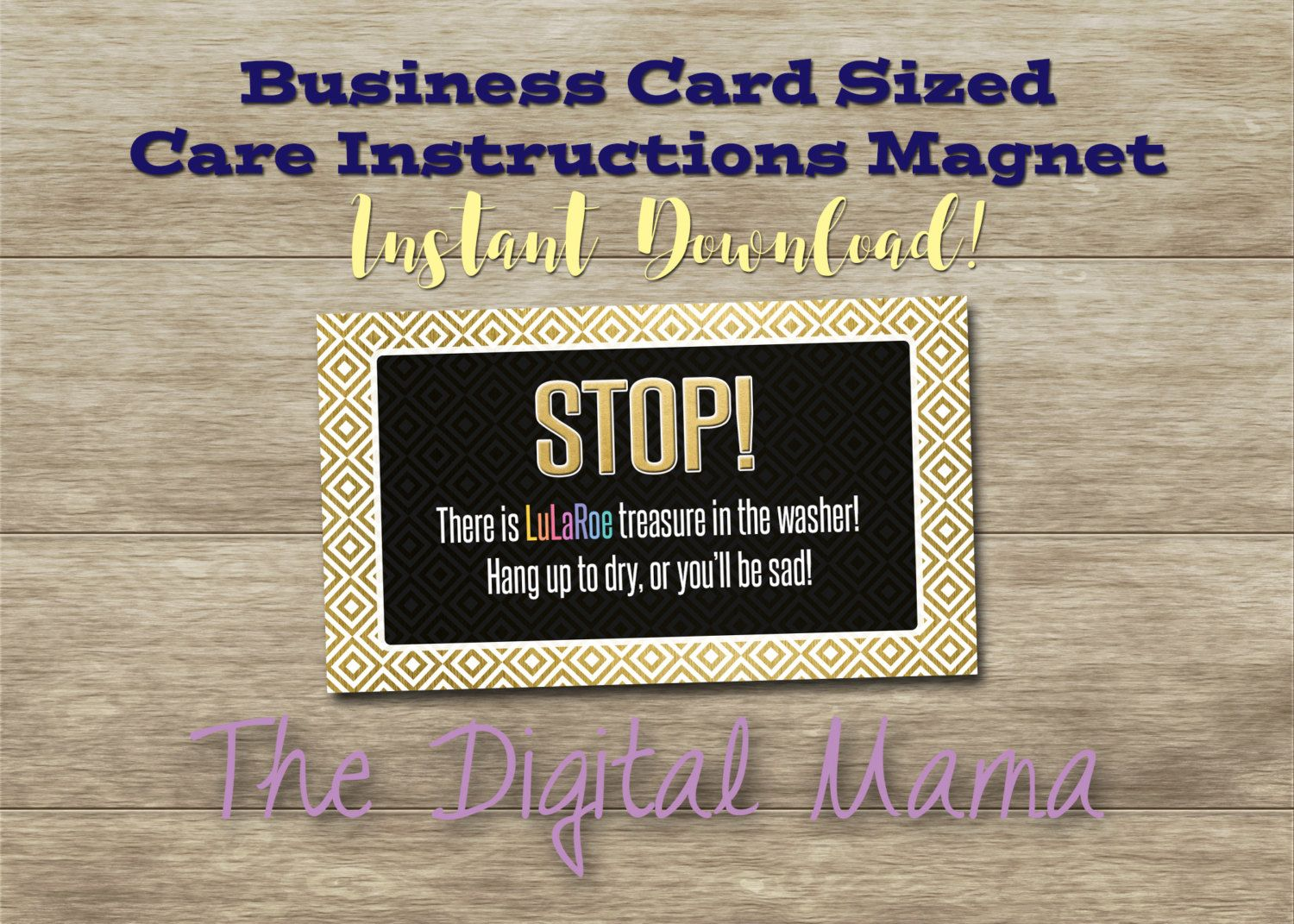 INSTANT DOWNLOAD: Clothing Care Instructions Magnet - Clothing ...