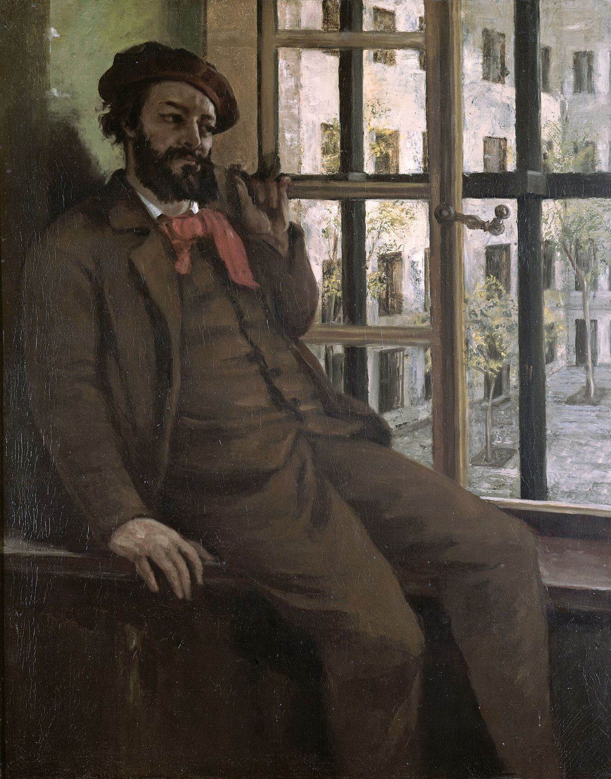 https://flic.kr/p/CnWYfe | Gustave Courbet - Self Portrait at Sainte-Pélagie [1871] | Courbet's commitment to politics led to a period of imprisonment. He immortalised this part of his life in Self-Portrait at Sainte-Pélagie. Immediately after his arrest in June 1871, he was accused of having taken part in the Paris Commune, the last of the nineteenth-century revolutions in France. During his trial, Courbet was accused of having taken part in the destruction of the colonne Vendôme, which…