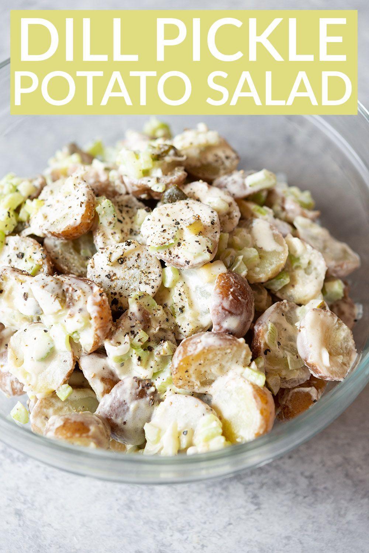 Vegan Potato Salad With Dill Pickles