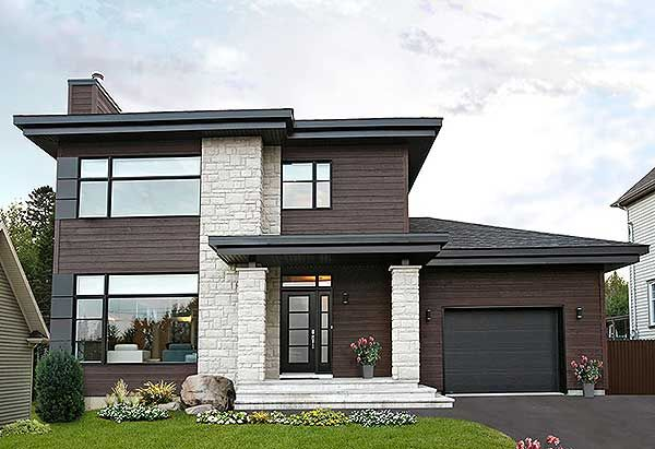 Architectural Designs 3 Bed Modern House Plan 22322DR 1,800+ sq, ft - Plan De Maison Moderne