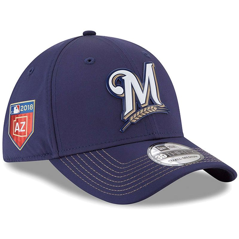 huge discount cd705 c994a Milwaukee Brewers New Era 2018 Spring Training Collection Prolight 39THIRTY  Flex Hat – Blue
