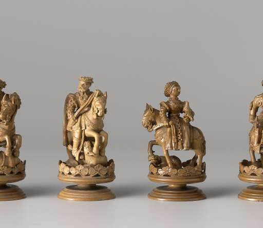 Chess set, Anonymous, c. 1550 - Rijksmuseum