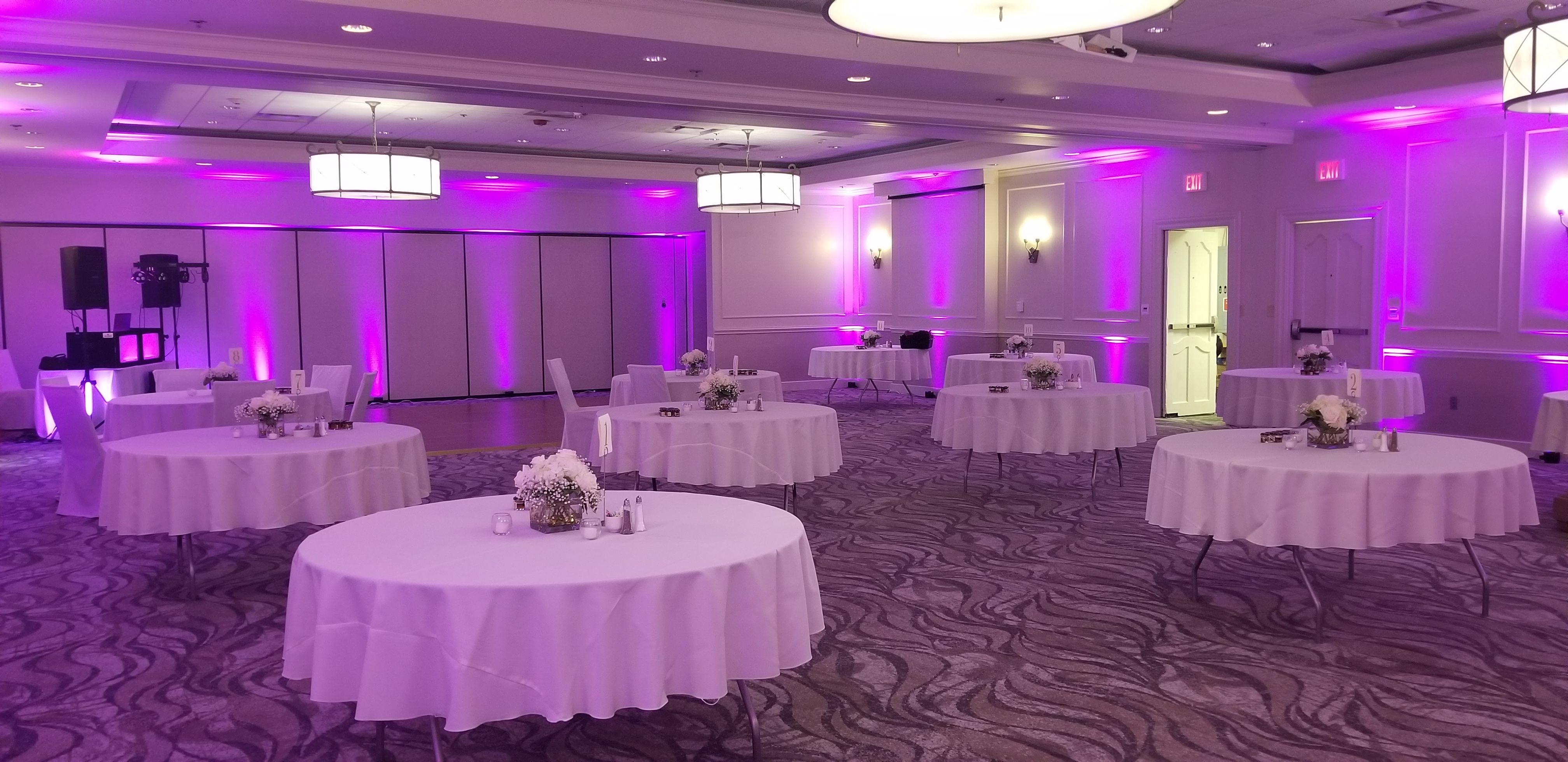 Wedding Uplighting Uplighting Wedding Wedding Reception Rooms Vintage Purple Wedding