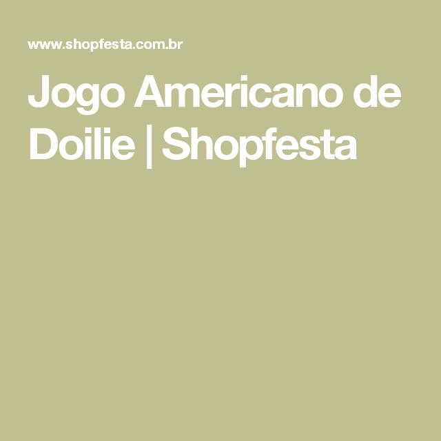 Jogo Americano de Doilie | Shopfesta