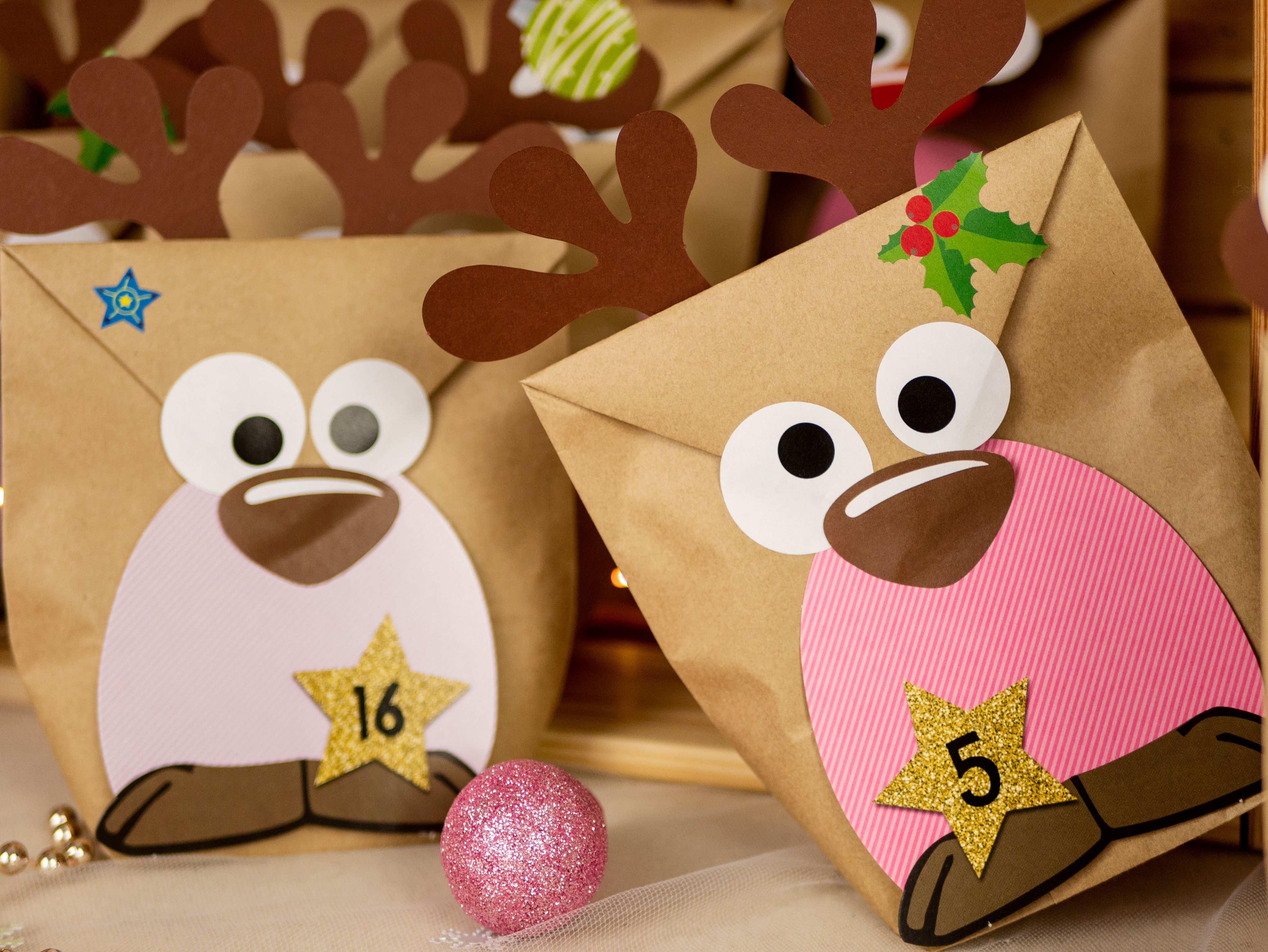 Rentier Geschenktuten Zum Geschenke Verpacken