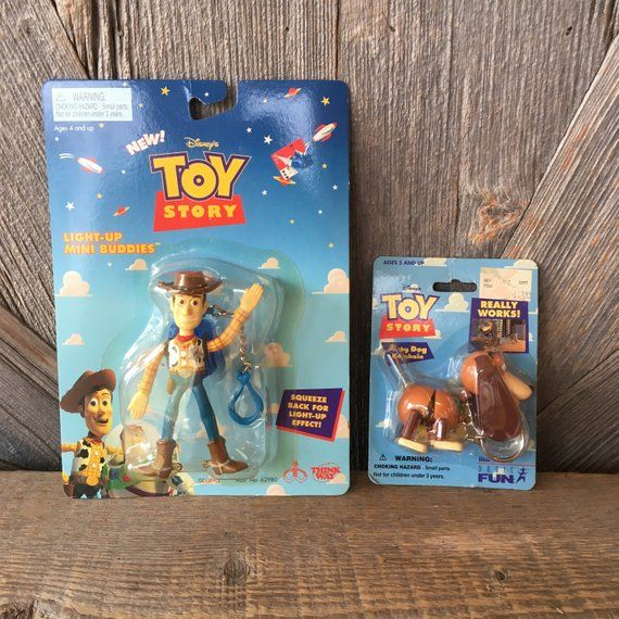 Toy Story Keychains Slinky Dog Woody Light Up Mini Buddies Action