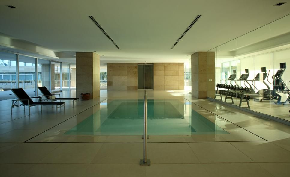 Contemporary Indoor Swimming Pool Design Inspiration with Simple ...
