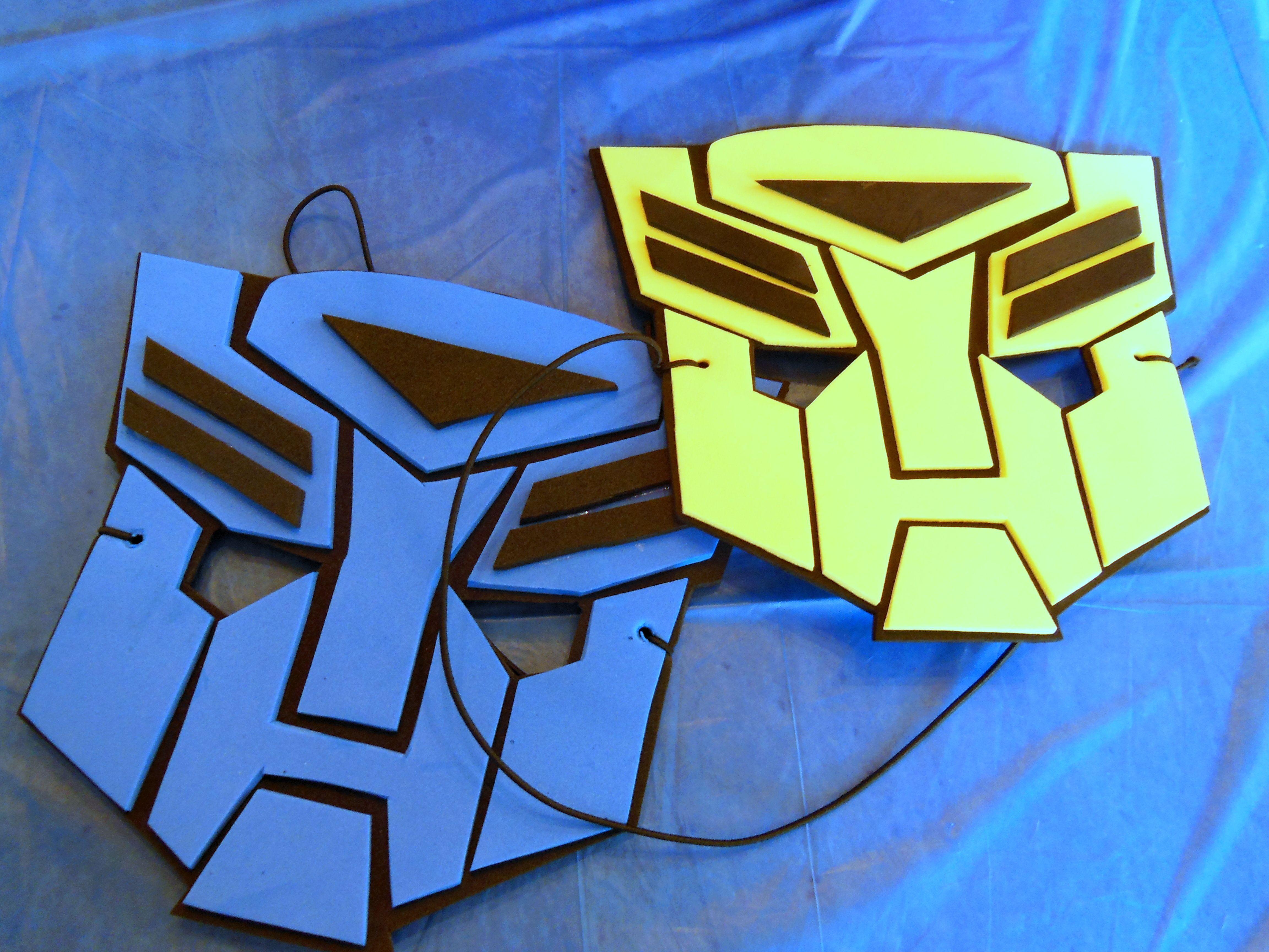 Imagenes Mascaras De Transformer: Transformer Birthday Party 6 Foam Masks