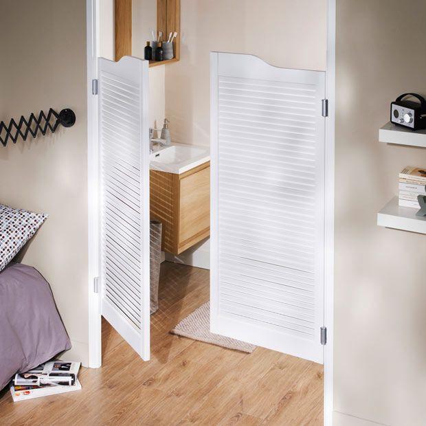 Portes saloon bois 2 vantaux deco maison pinterest portes saloon et porte battante - Porte placard salle de bain ...