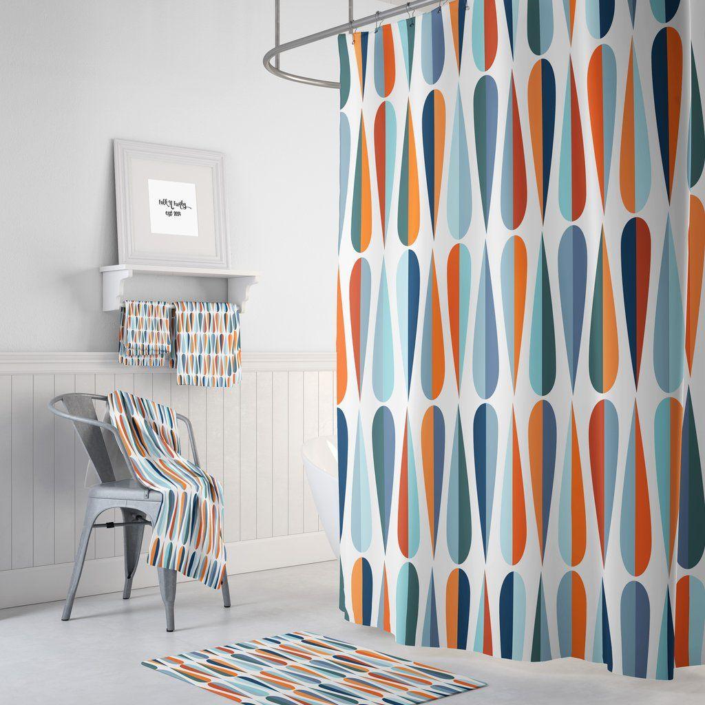 Mid Century Modern Shower Curtain Modern Shower Curtains Large