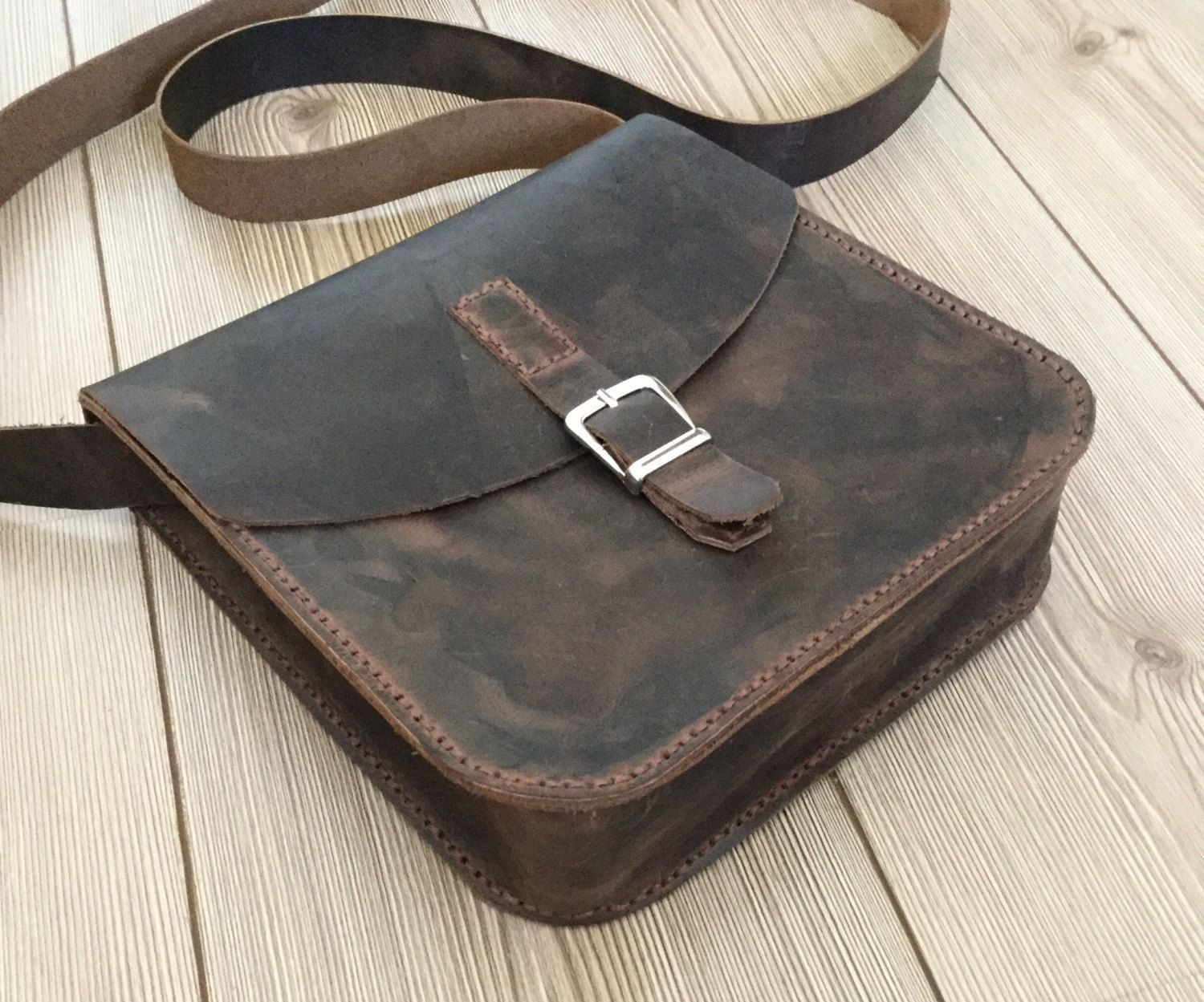 4ed4b443b1e Leather Bag Leather cross Bag Men s Leather bag Valentine s gift Leather  saddle bag (139.00 USD